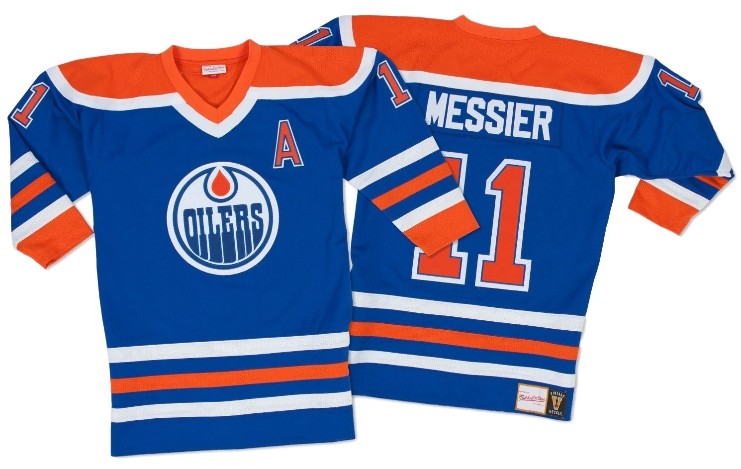 Mark Messier Edmonton Oilers Mitchell   Ness Authentic 1986 Blue NHL Jersey 07ecb8037