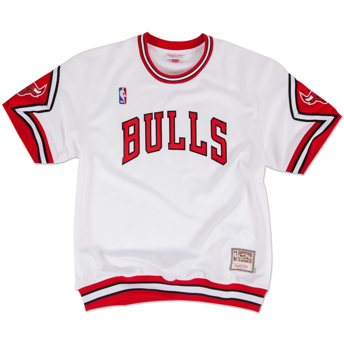 Chicago Bulls Mitchell & Ness NBA Authentic 1987-88 Home Shooting Shirt - White