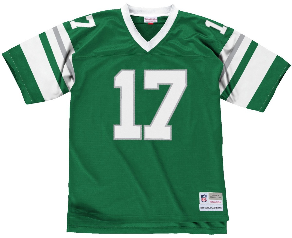 720aecbd382 Harold Carmichael Philadelphia Eagles Men's NFL Mitchell & Ness Green Jersey  The Mitchell and Ness throwback vintage ...
