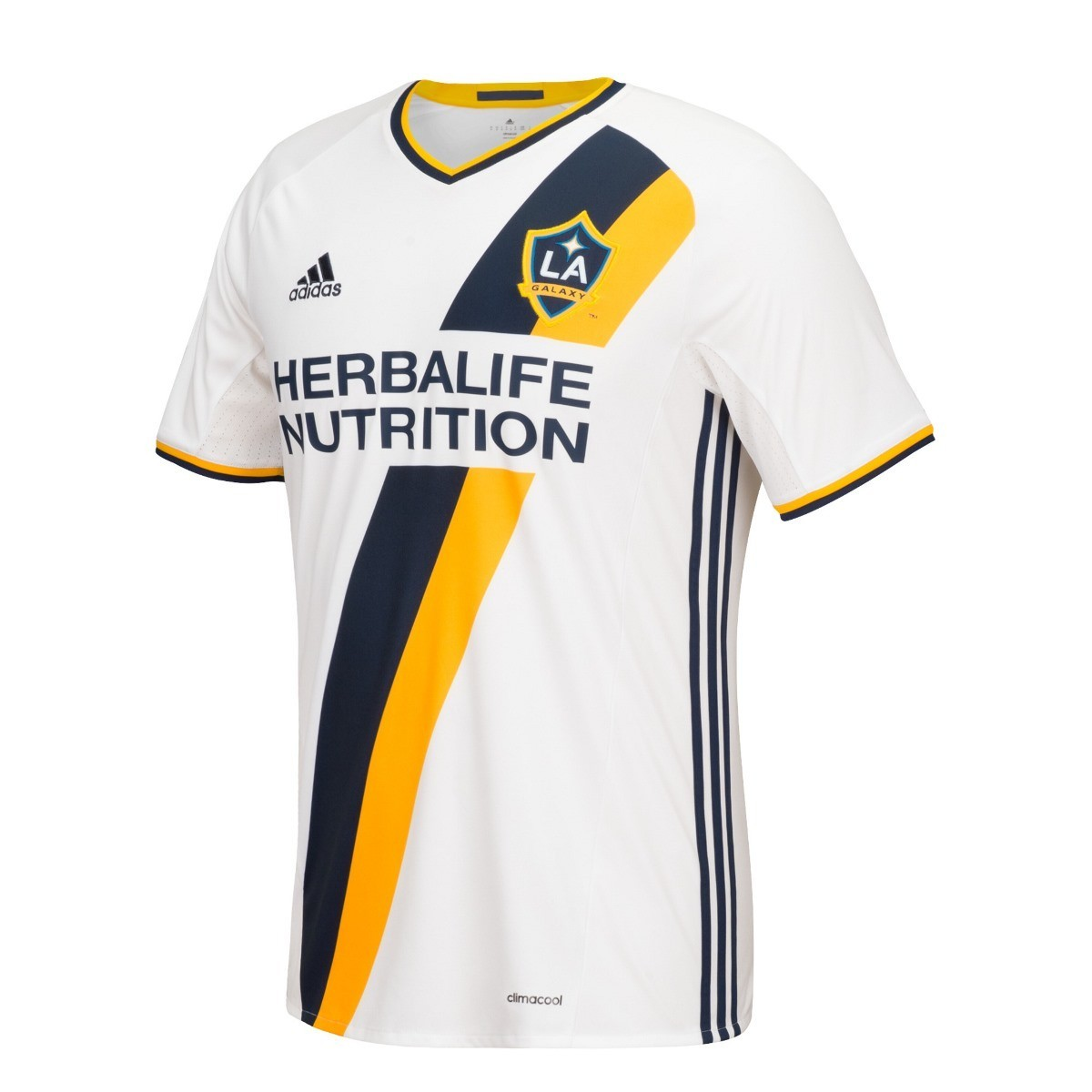 Los Angeles Galaxy Adidas MLS Climalite On-Field Replica S/S Jersey - White