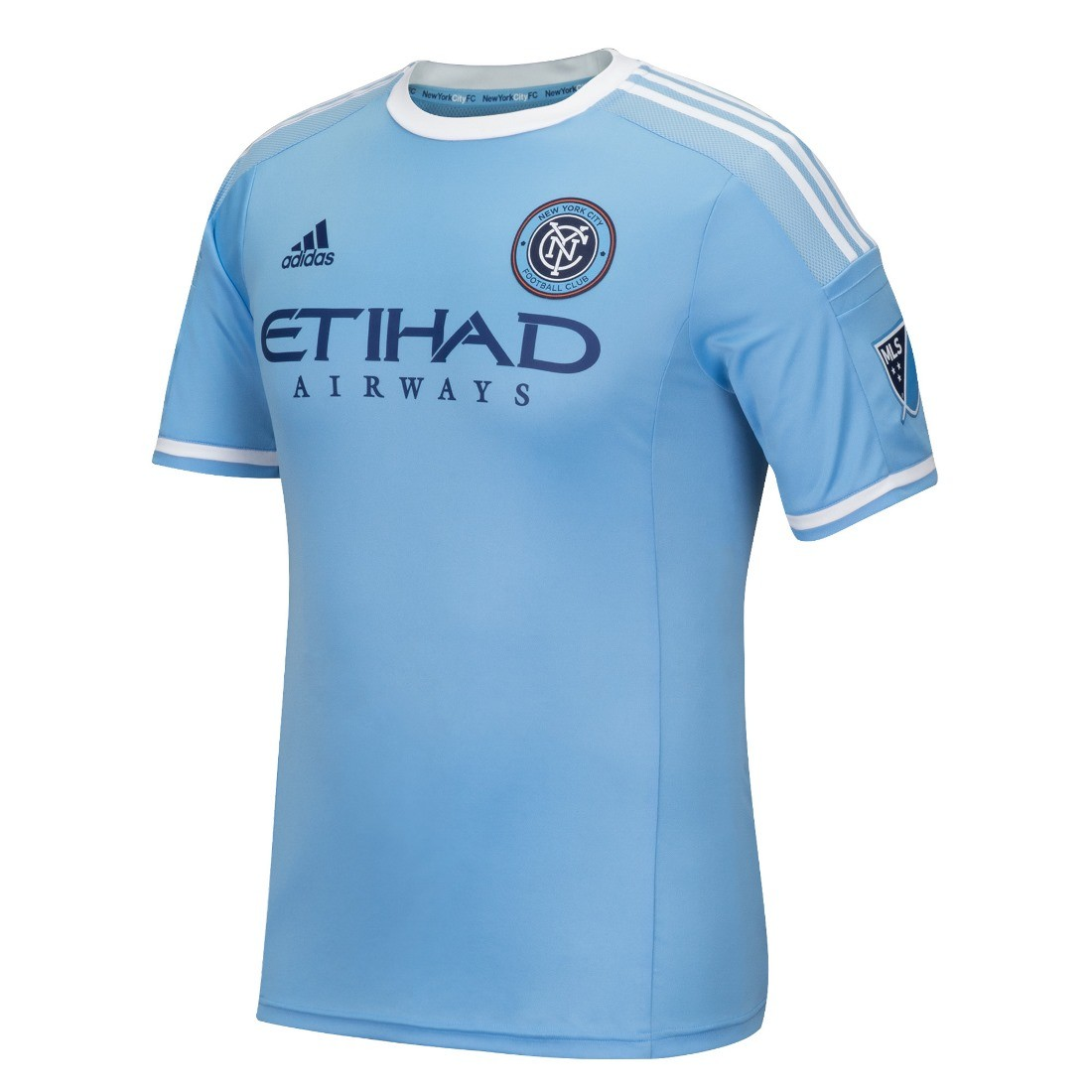 f518c1ce2a52c Details about New York City FC Adidas MLS Men s Authentic On-Field  Climalite S S Jersey