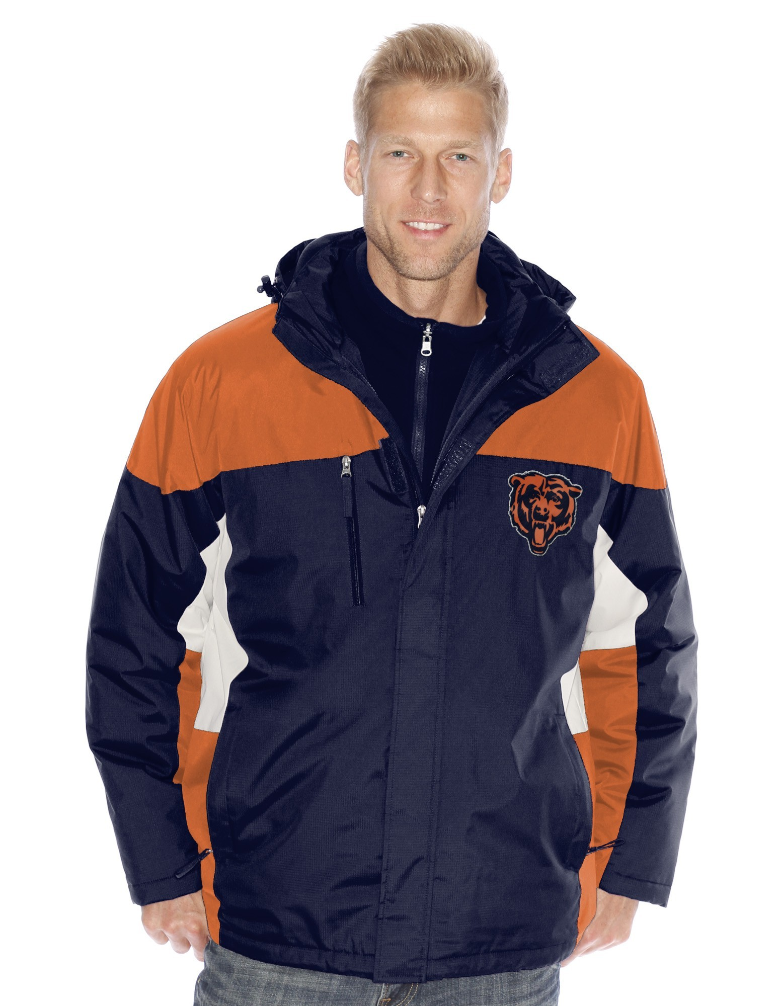 """Chicago Bears NFL """"Lombardi"""" Systems 3-in-1 Heavyweight Performance Jacket"""