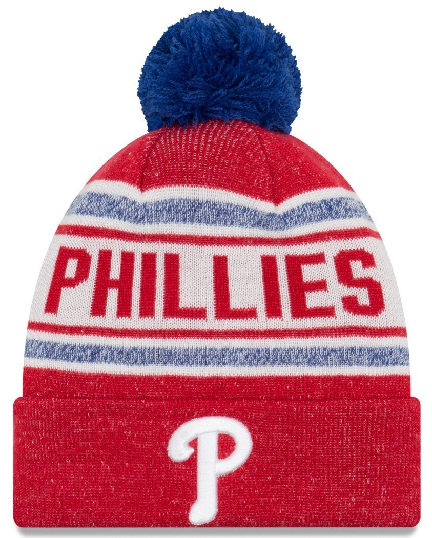 46269abd13b ... coupon for philadelphia phillies new era mlb toasty cover cuffed knit  hat with pom 48233 c73d8