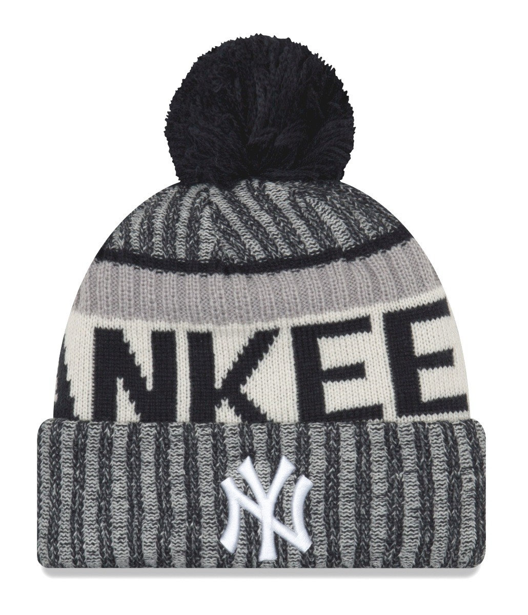 half off 03a60 a860a ... real new york yankees new era mlb ne17 sport knit hat with pom 33438  3c26b