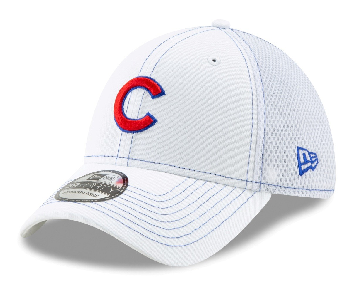 10e832ec4 ... get details about chicago cubs new era mlb 39thirty white team neo flex  fit hat 06774