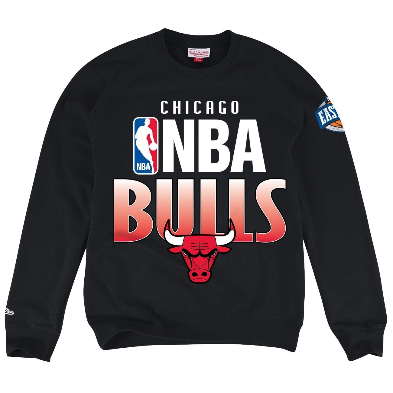 "Chicago Bulls Mitchell & Ness NBA ""Toss Up"" Men's Crew Sweatshirt"