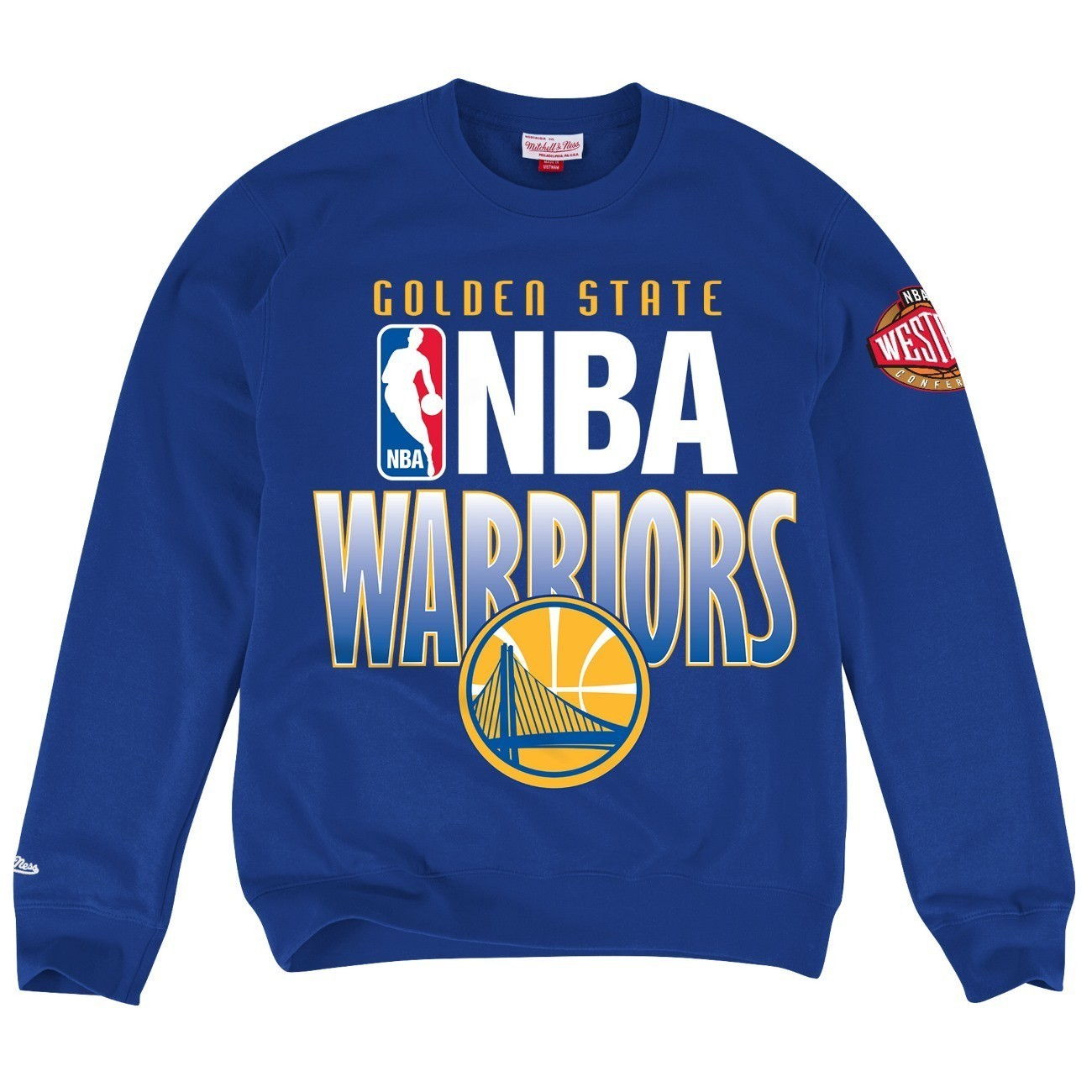 "Golden State Warriors Mitchell & Ness NBA ""Toss Up"" Men's Crew Sweatshirt"