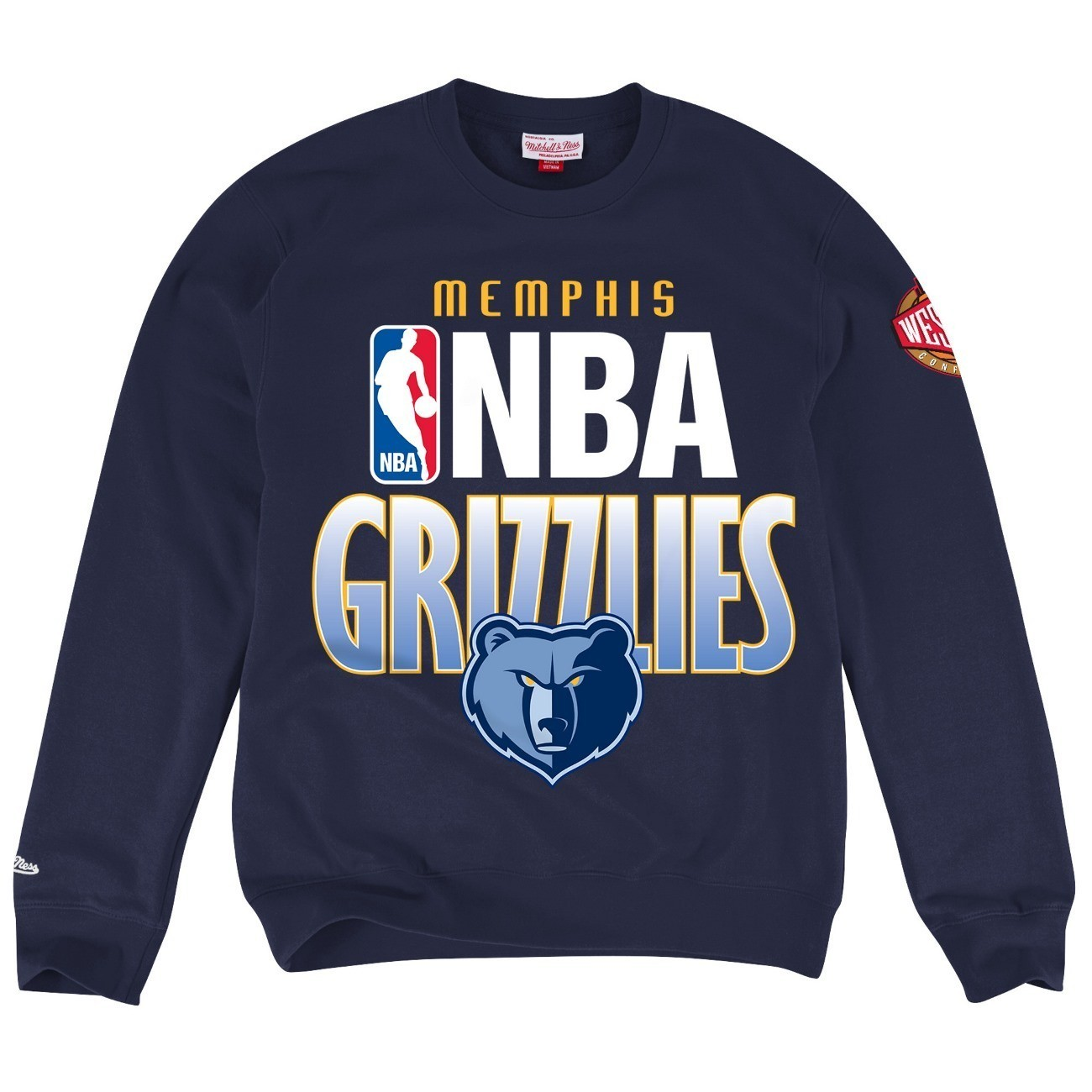 "Memphis Grizzlies Mitchell & Ness NBA ""Toss Up"" Men's Crew Sweatshirt"