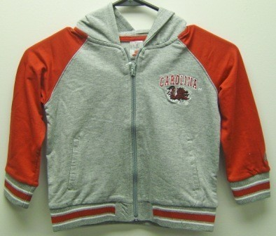 South Carolina Toddler Full Zip Hooded Fleece
