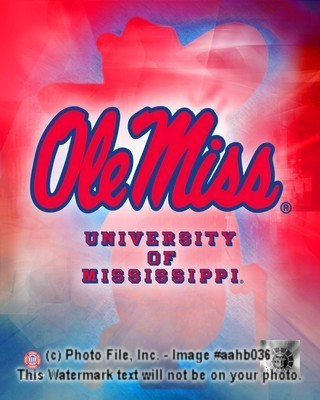 Ole Miss Rebels Logo 8x10 Photo