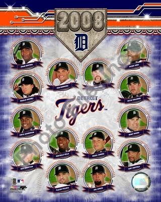 Detroit Tigers 2008 Team Composite 8x10