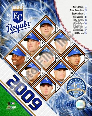 Kansas City Royals 2009 Team Composite 8x10 Photo
