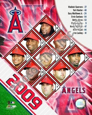 Los Angeles Angels 2009 Team Composite 8x10 Photo