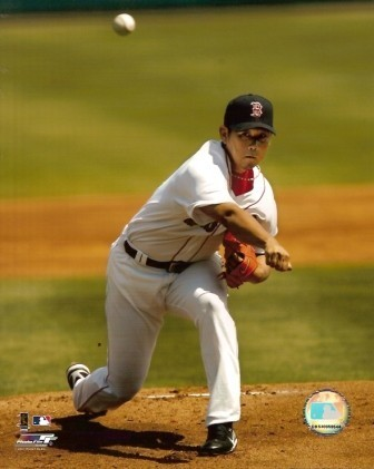 Daisuke Matsuzaka First Pitch Red Sox 8x10 Photo