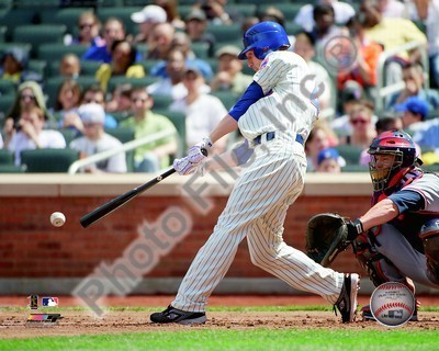 Jason Bay Mets Hitting 8x10 Photo