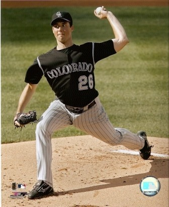 Jeff Francis Rockies Pitching 8x10 Photo
