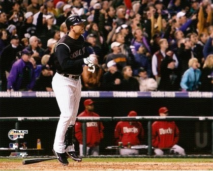 Matt Holliday Rockies 2007 NLCS Homerun 8x10 Photo