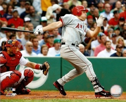 Mark Teixeira Angels Hitting 8x10 Photo