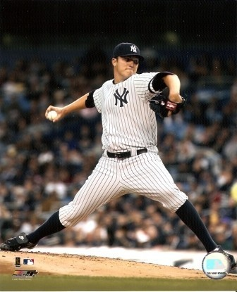Philip Hughes Yankees Pitching 8x10 Photo