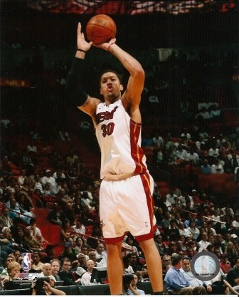 Michael Beasley Heat Jump Shot 8x10 Photo