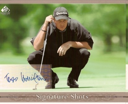Todd Hamilton Signed 8x10 Upper Deck