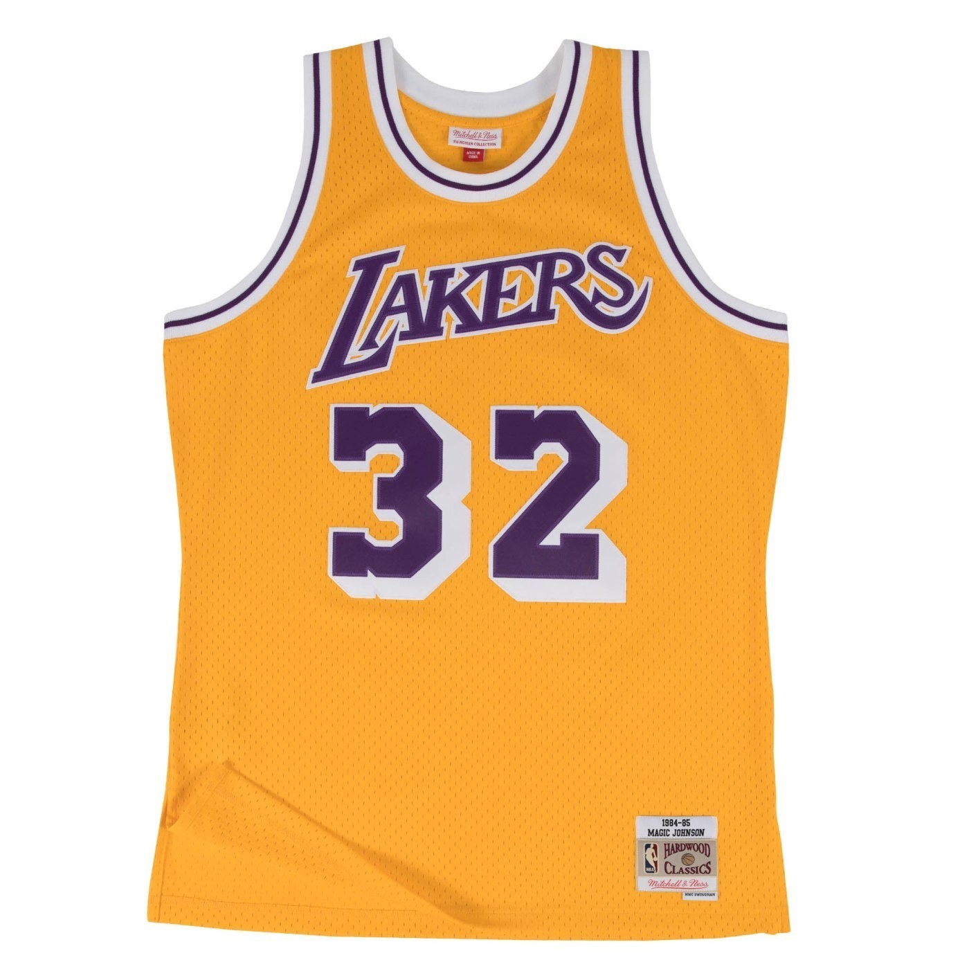 ca431080965 Details about Magic Johnson Los Angeles Lakers NBA Mitchell   Ness Youth Swingman  Jersey