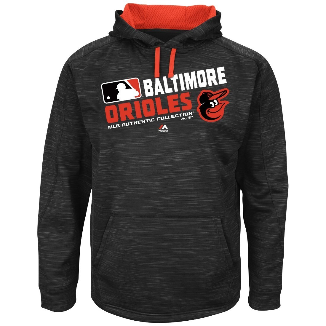 "Baltimore Orioles Majestic MLB ""Team Choice"" On-Field Hooded Sweatshirt"