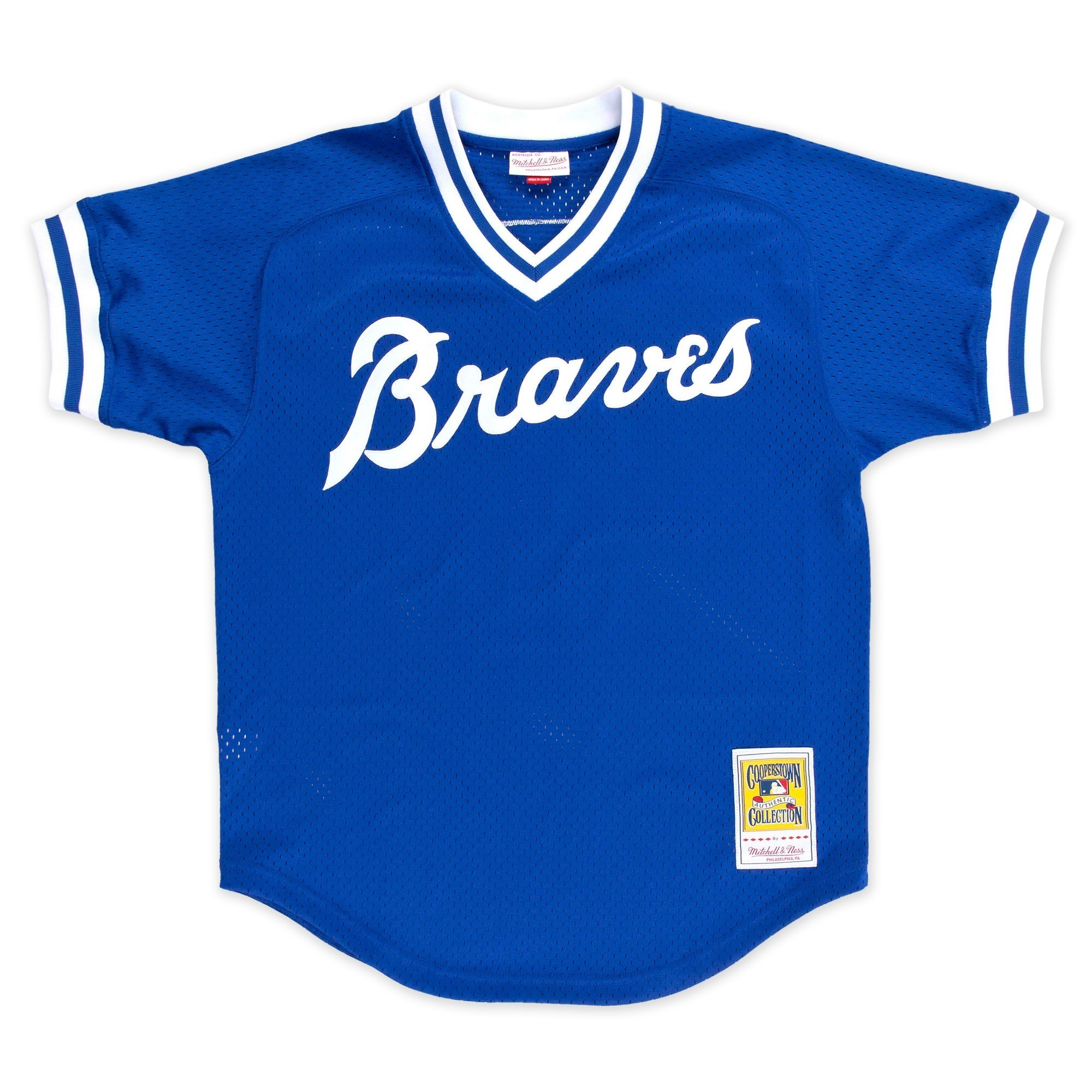 37ee3f57514 Details about Dale Murphy Atlanta Braves Mitchell   Ness Men s Authentic  1981 BP Jersey - Blue