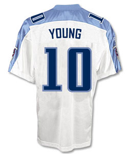 Vince Young Titans White Reebok Authentic Jersey