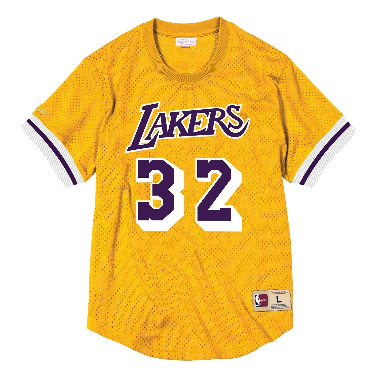 eb008a43db9 Details about Magic Johnson Los Angeles Lakers Mitchell & Ness NBA Men's  Mesh Jersey Shirt