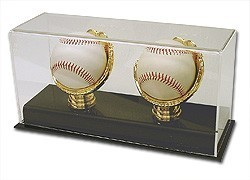 Acrylic Gold Glove Display - Double Baseball