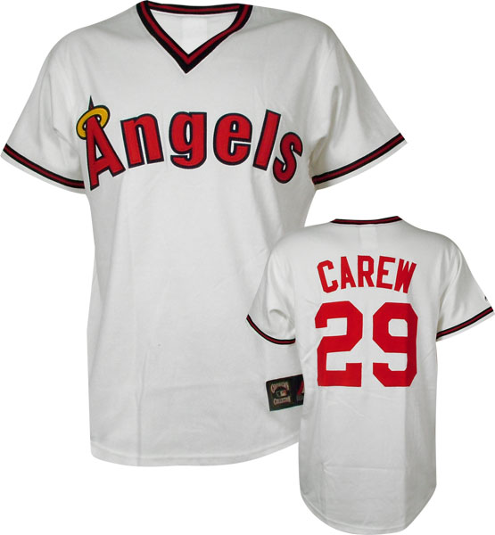 Rod Carew Angels Cooperstown Replica Jersey