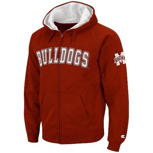 Mississippi State Bulldogs 2012 Maroon Automatic Full Zip Hooded Sweatshirt