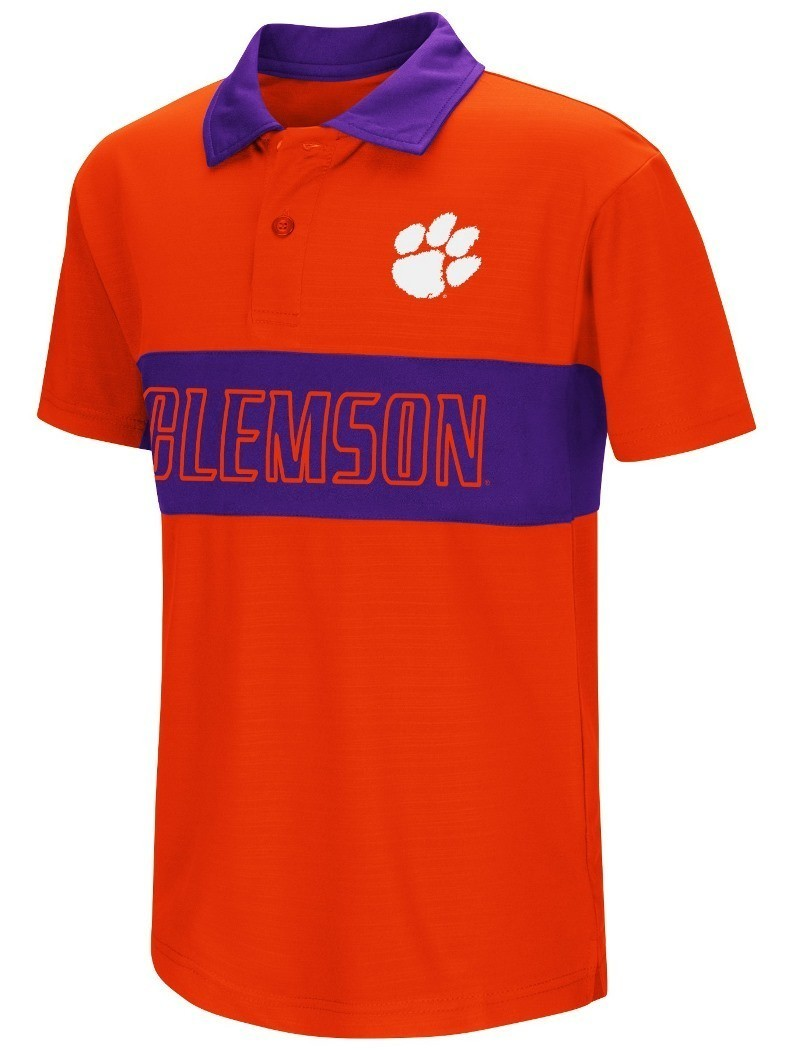 Clemson tigers ncaa setter youth performance polo shirt for Youth performance polo shirts