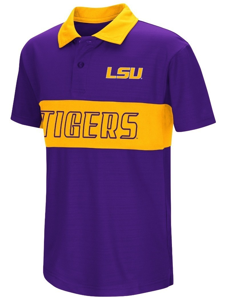 lsu tigers ncaa setter youth performance polo shirt