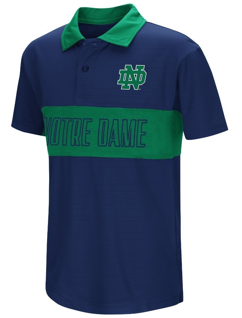 Buy notre dame fighting irish ncaa setter youth for Youth performance polo shirts