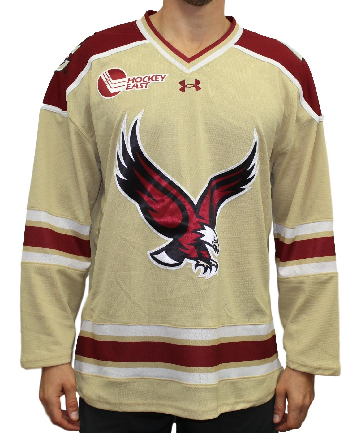 80773ad0a Boston College Eagles Under Armour NCAA Men's Replica Hockey Jersey - Gold