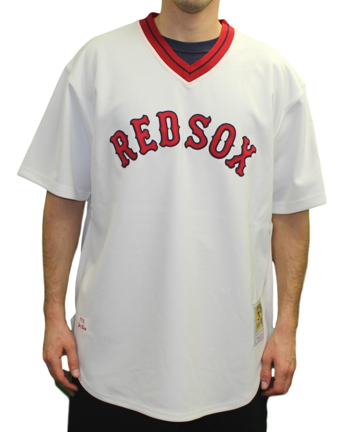 online retailer c2aaf d976d Details about Jim Rice Boston Red Sox Mitchell & Ness MLB Authentic 1975  Jersey - 2XL/52