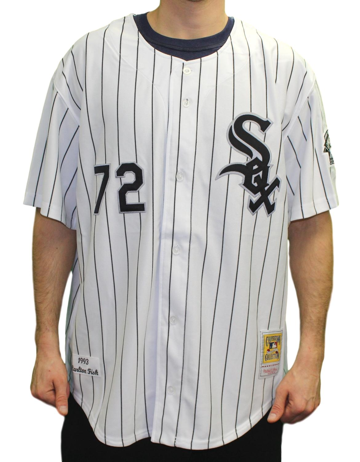 premium selection d38f8 93d41 Details about Carlton Fisk Chicago White Sox Mitchell & Ness MLB Authentic  1993 Jersey