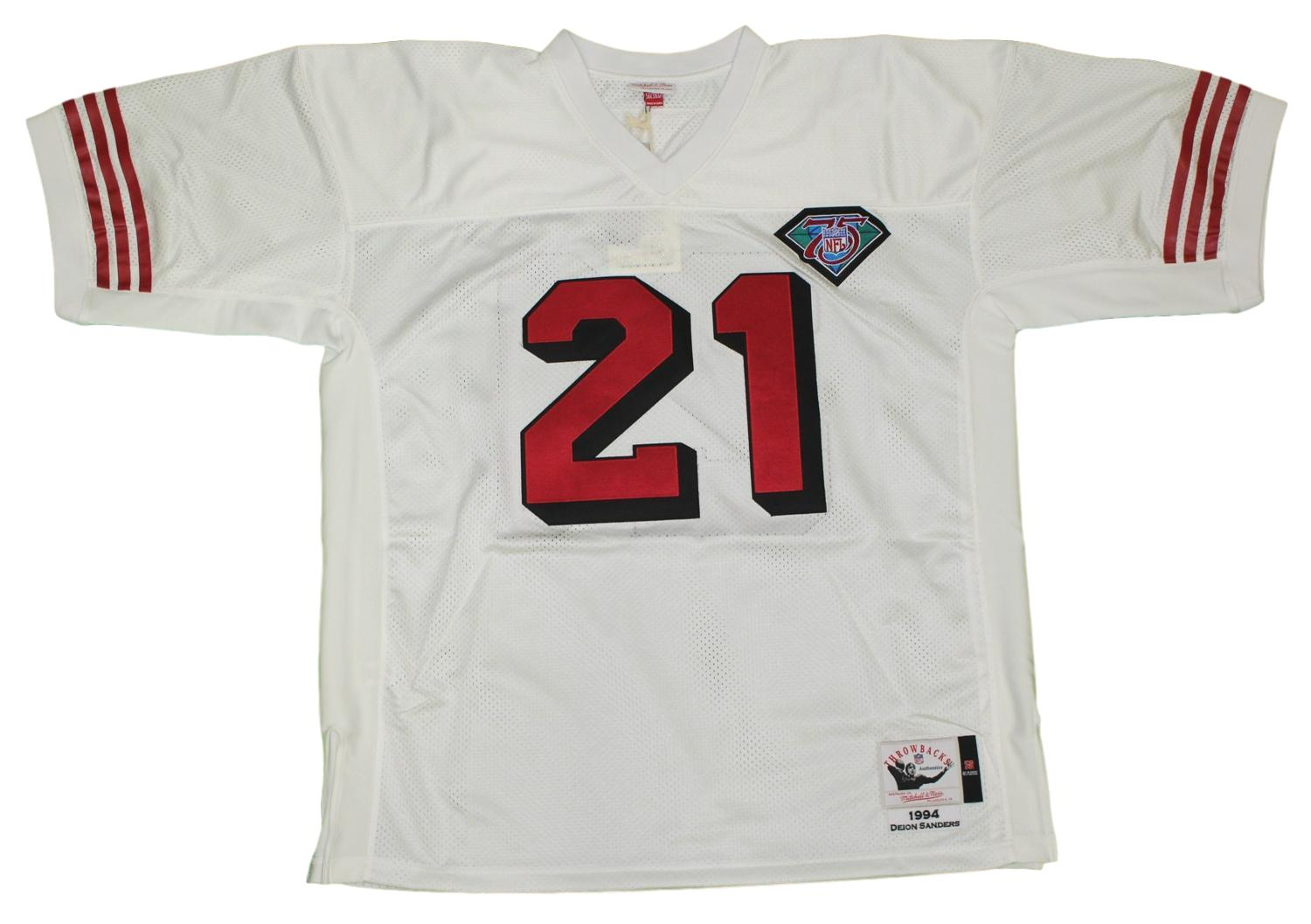 9ac6814b317 Deion Sanders San Francisco 49ers Mitchell   Ness Authentic 1994 NFL Jersey