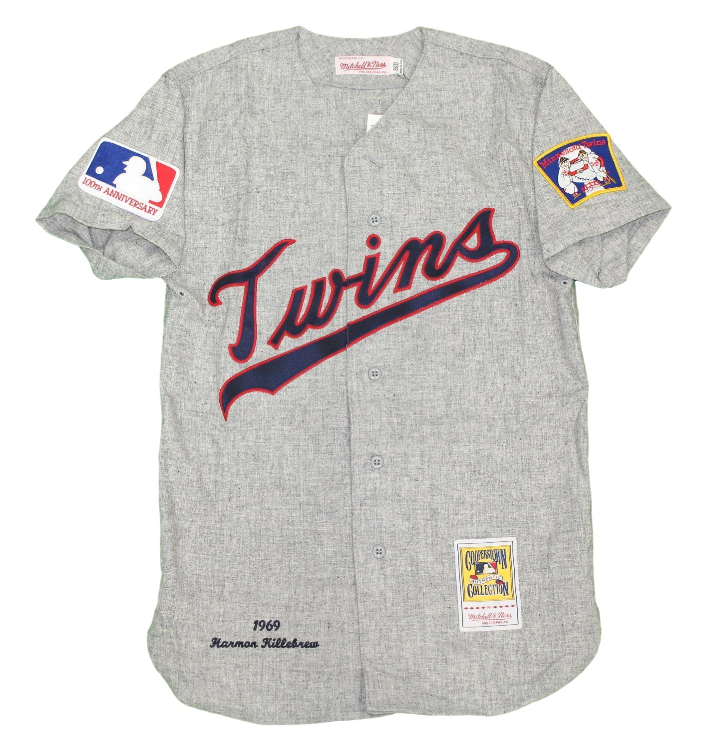 8f370584bba Details about Harmon Killebrew Minnesota Twins Mitchell & Ness Auth 1969  Jersey - Gray, S/36