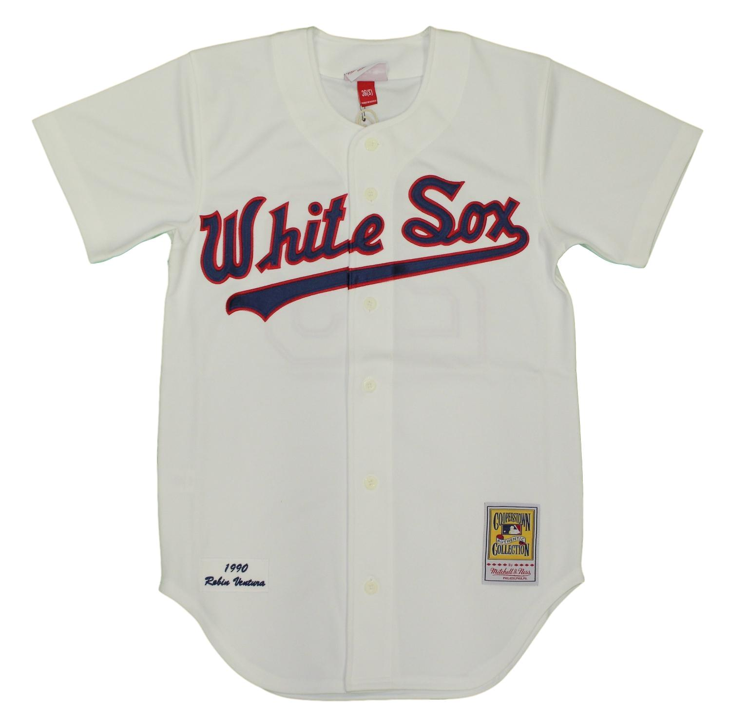 9fe06e01b Details about Robin Ventura Chicago White Sox Mitchell   Ness Authentic  1990 Jersey - Small 36