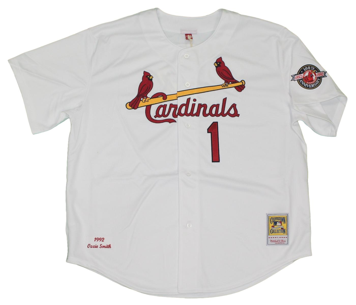 589968a27 ... baby blue pullover 1980s 4afbc edb70  shop ozzie smith st. louis  cardinals mitchell ness mlb authentic 1992 jersey 2ff4a 6b52a