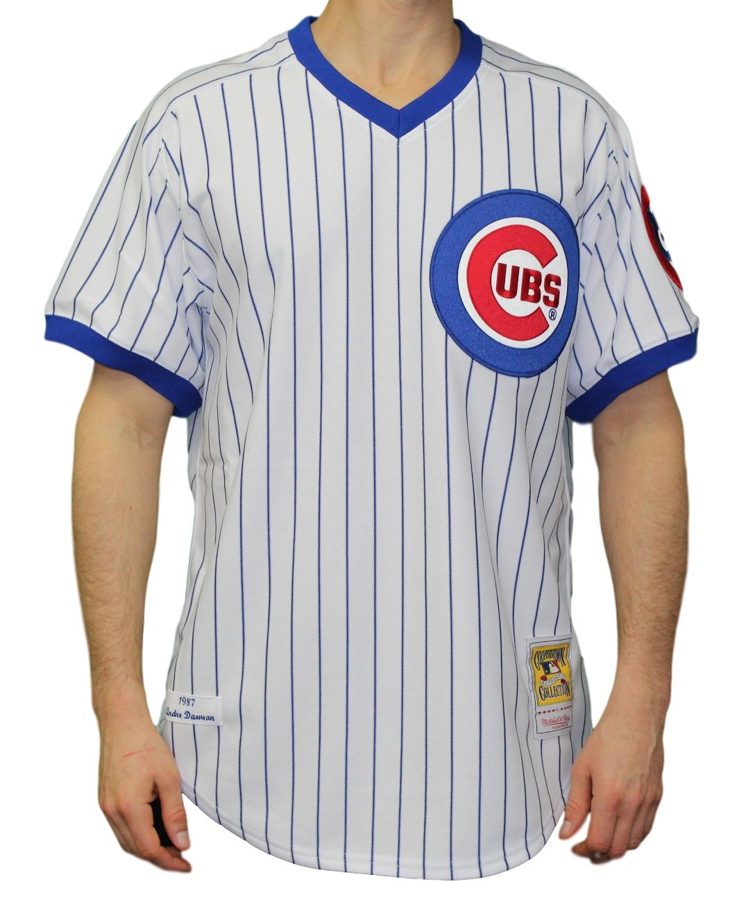 335cb577f Andre Dawson Chicago Cubs Mitchell   Ness MLB Authentic 1987 Pinstripe  Jersey