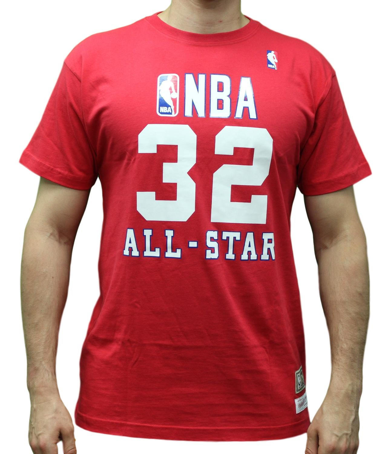 9966995e9 Details about Magic Johnson 1990 All-Star West Mitchell   Ness NBA Throwback  Men s Red T-Shirt