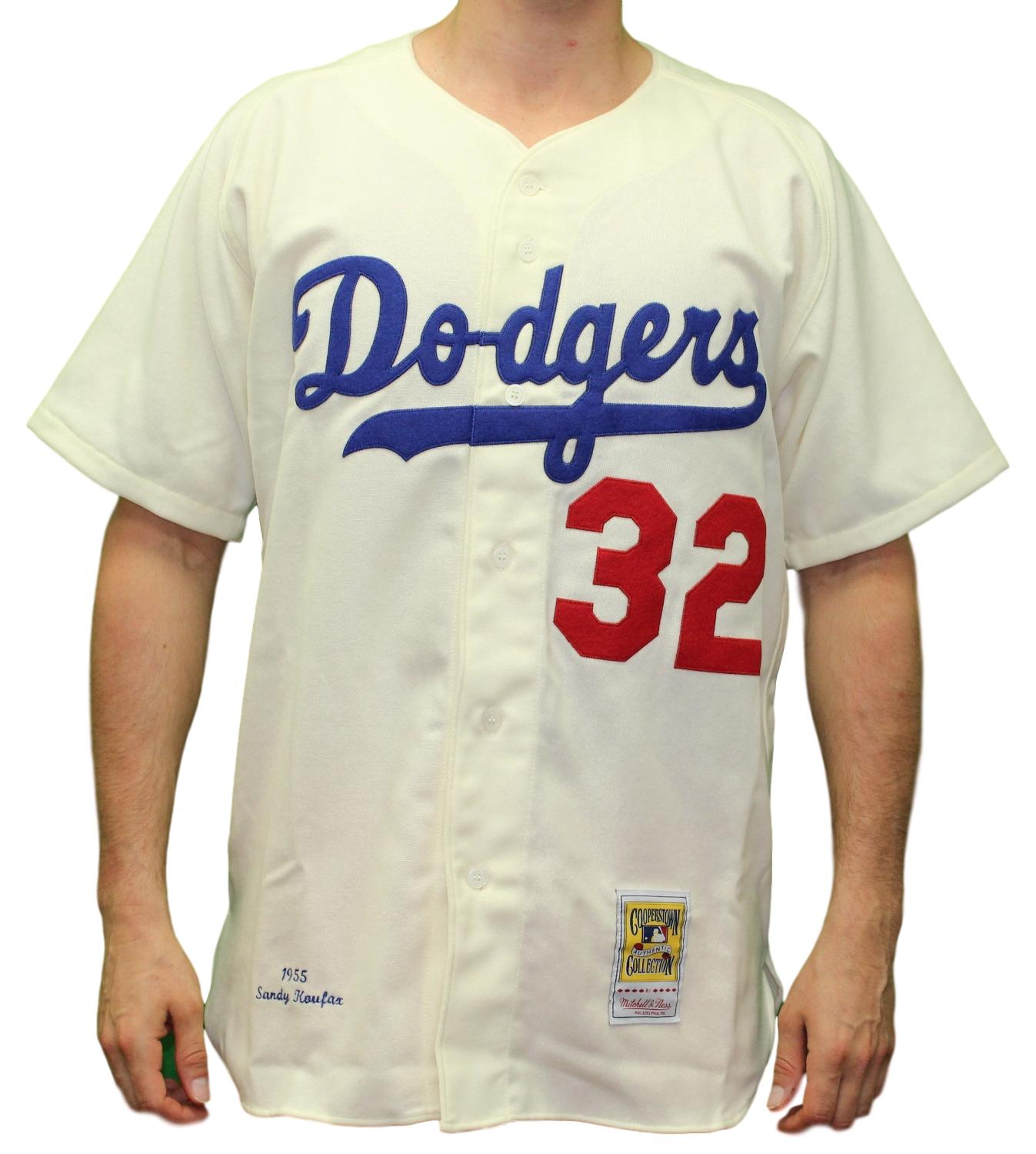 244af730 Sandy Koufax Brooklyn Dodgers Mitchell & Ness Authentic 1955 Button Up  Jersey