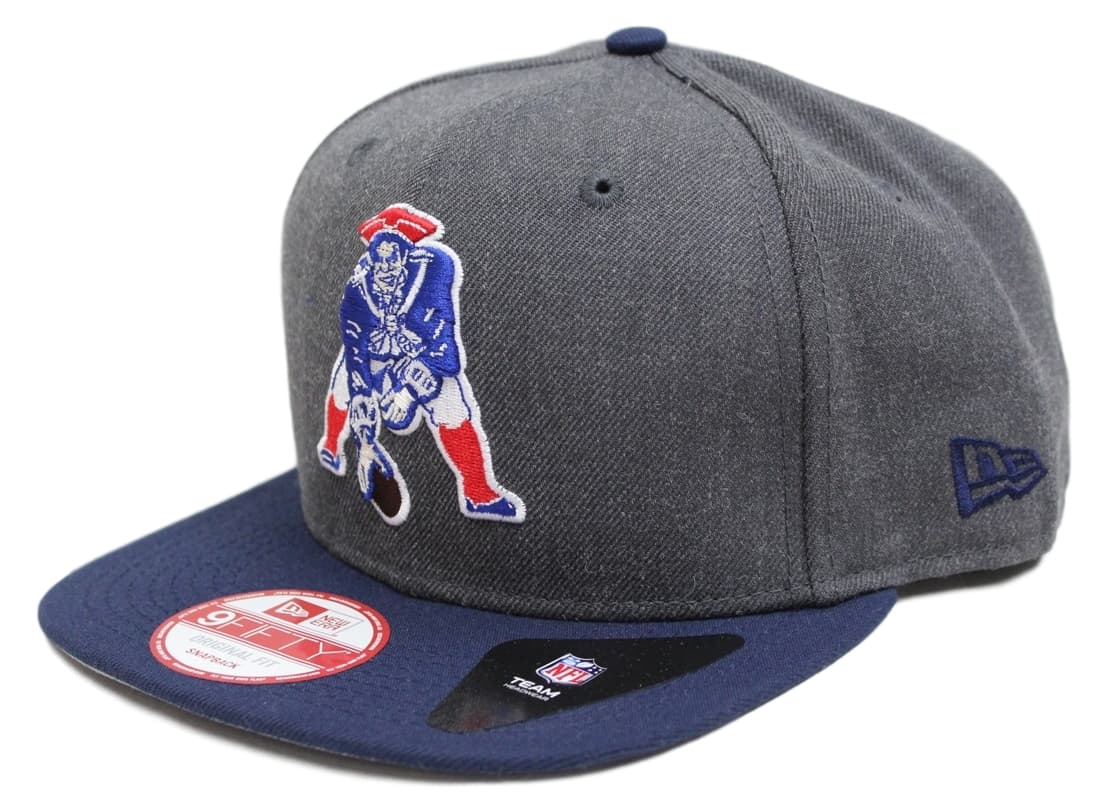 Details about New England Patriots New Era 9FIFTY NFL Heather Graphite Throwback  Snapback Hat 4e662ef2b