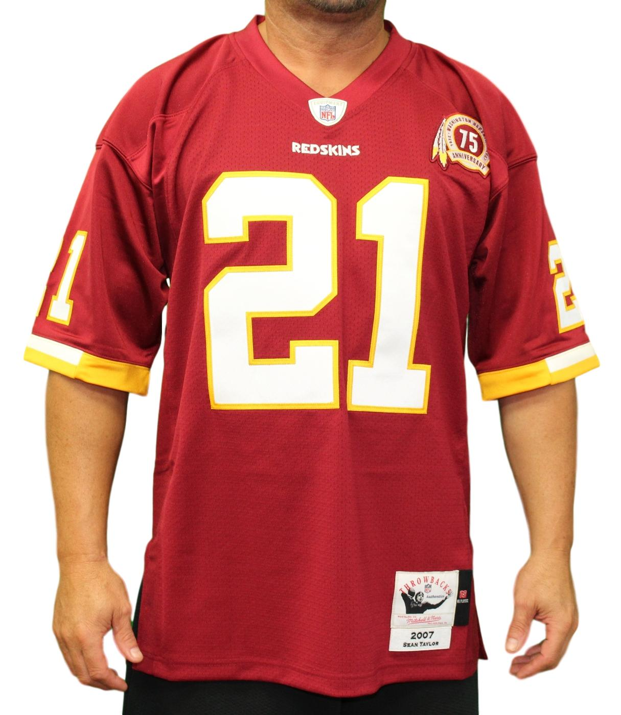brand new f4fd3 e52bd Details about Sean Taylor Washington Redskins Mitchell & Ness Authentic  2007 Red NFL Jersey