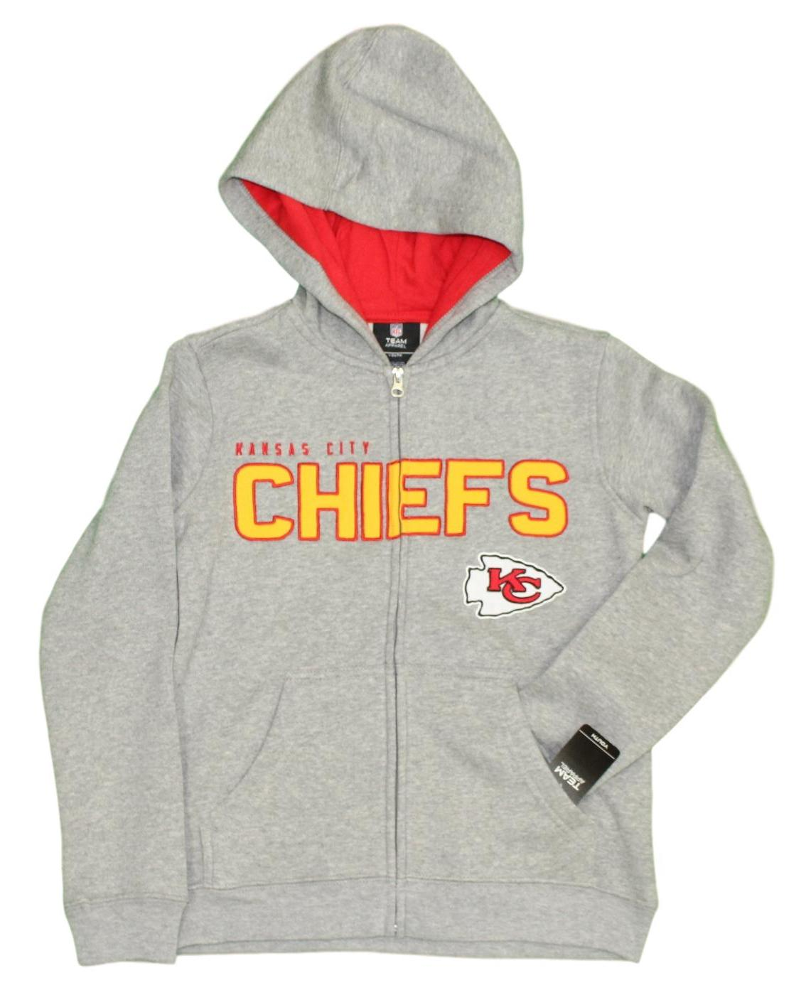 Kansas City Chiefs Youth NFL Game Stated Full Zip Hooded