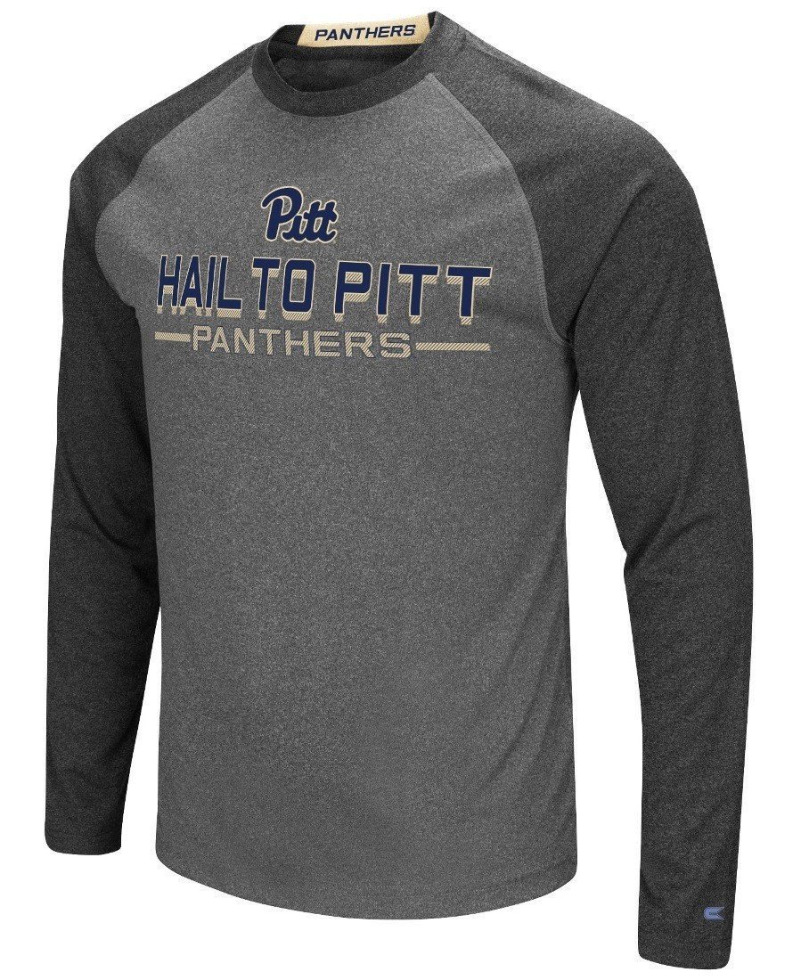"Pittsburgh Panthers NCAA /""Touchdown/"" Men/'s Dual Blend Long Sleeve T-Shirt"